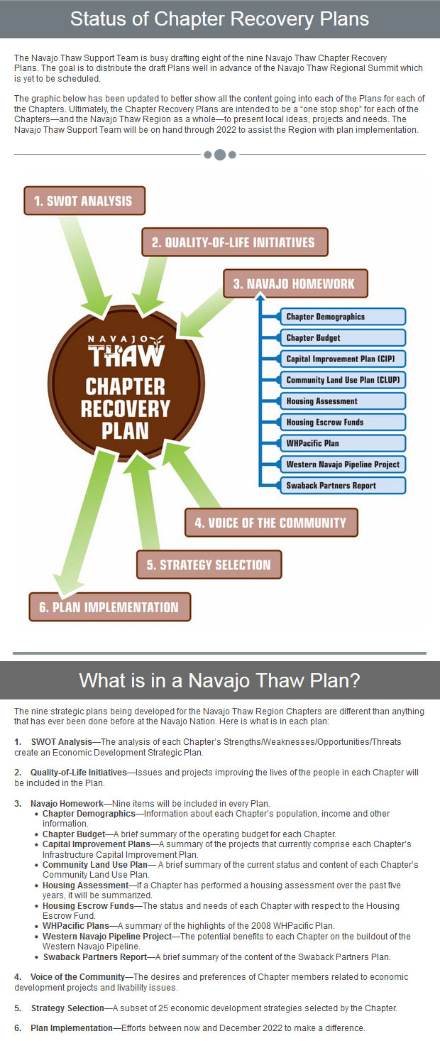 Status of Chapter Recovery Plans