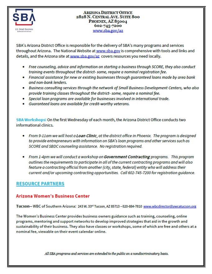 Arizona-SBA-Loan-Fact-Sheet