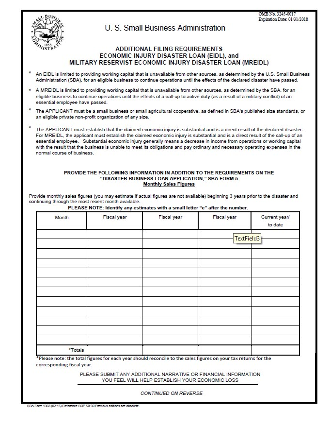 EIDL-Additional-Requirements-Form-1368