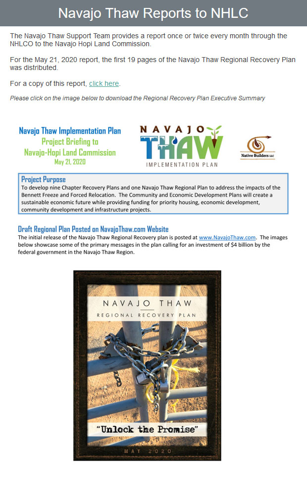 email-blast-Navajo-Thaw-Reports-to-NHLC-05-26-20