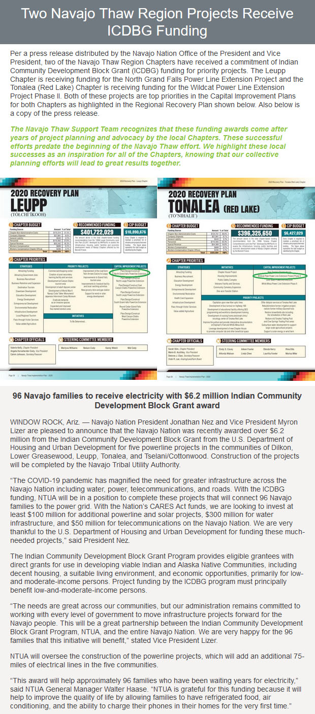 email-blast-Two-Navajo-Thaw-Region-Projects-ReceiveICDBG-Funding