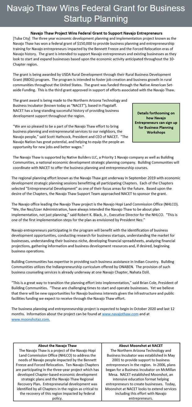 Navajo-Thaw-Wins-Federal-Grant-for-Business-Startup-Planning