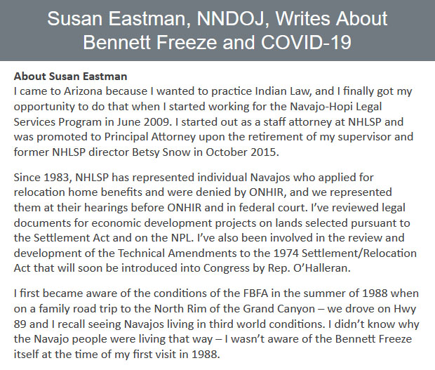 Susan-Eastman-NNDOJ-Writes-About-Bennett-Freeze-and-COVID-19